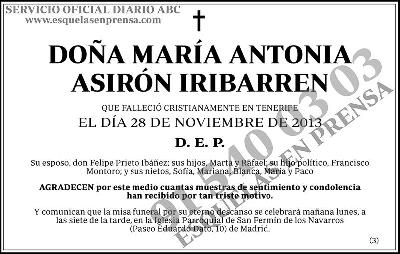 María Antonia Asirón Iribarren